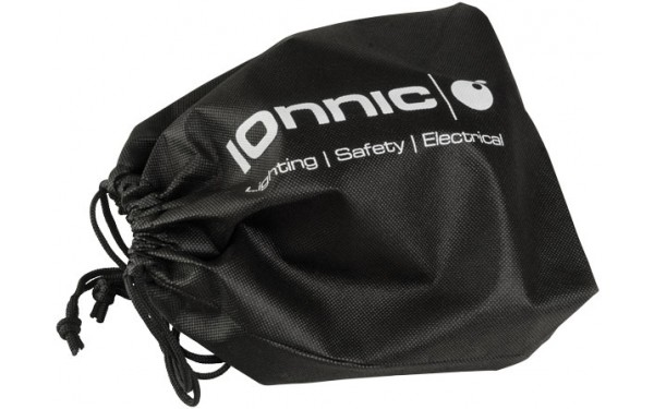 Supplied with drawstring carry bag.