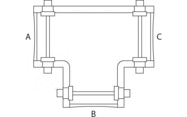 hinged t pieces - hinged fittings