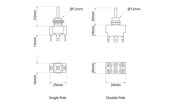 standard duty - toggle - switches