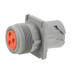 Square Flange Receptacle