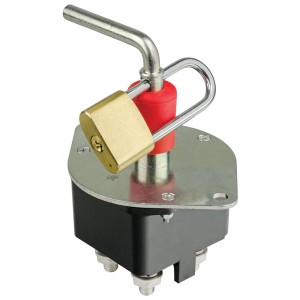 Lock passes through handle