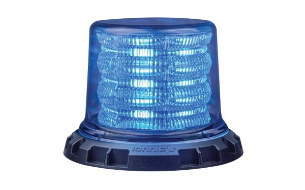 Clear lens with blue LEDs illuminated