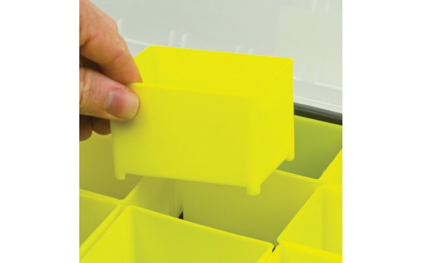 Removable inserts in 625 piece kit