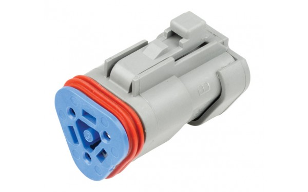 3 Circuit Deutsch DT Series Resistor Plug including blue wedge. 120Ω. Size 16 contacts