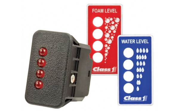 Remote Indicator supplied with both Water & Foam decals
